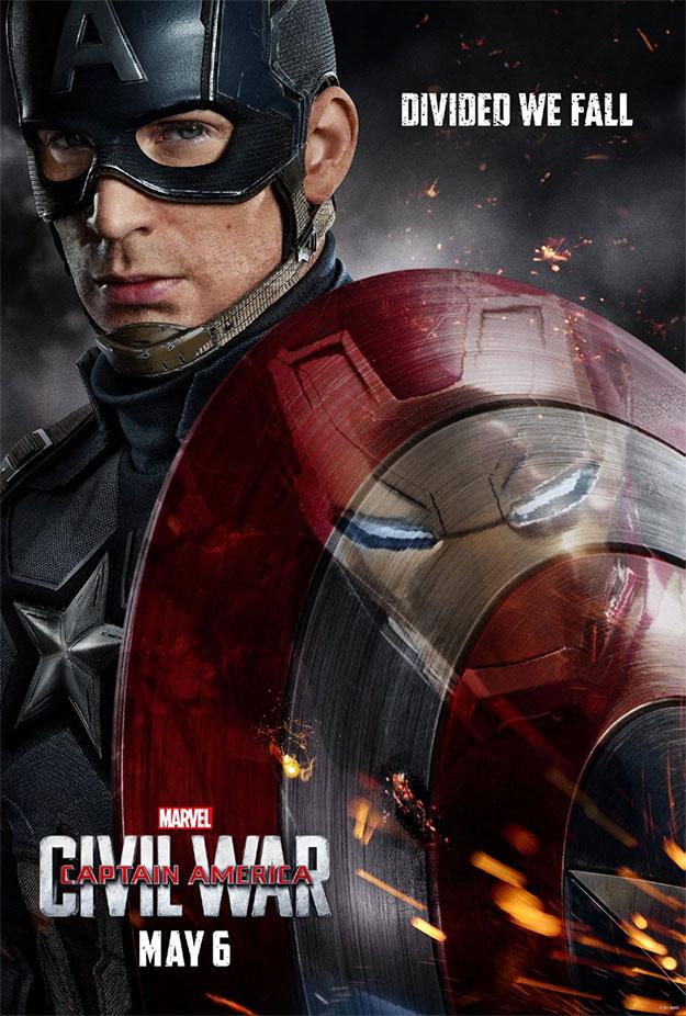 Cartel aparecido para la promoción de Capitán América: Civil War!