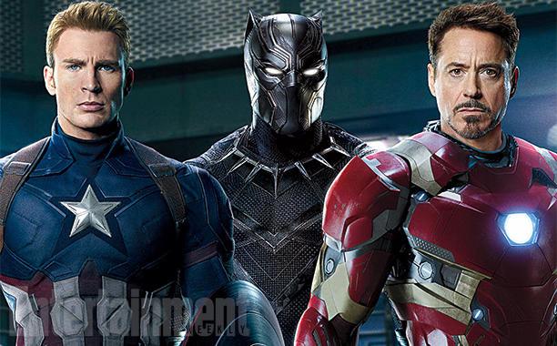 El trío calavera: Captain America: Black Panther e Iron Man. Dos bandos y la duda