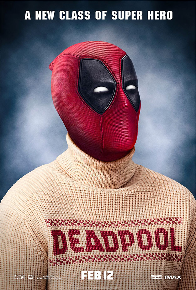 Deadpool con un jersey a lo Darcy de cuello vuelto