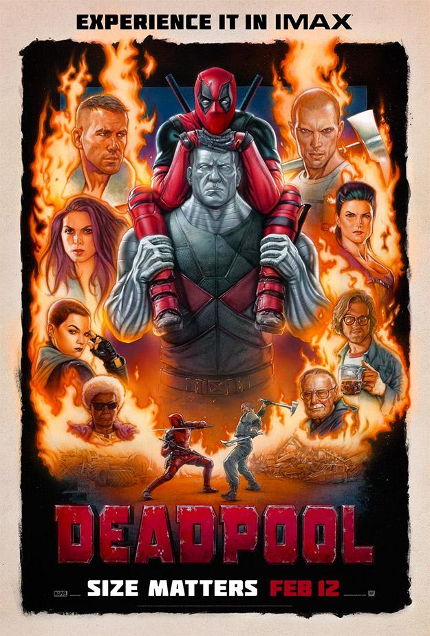 El nuevo cartel para IMAX de Deadpool