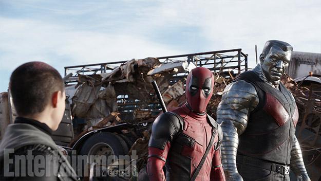 Deadpool y Coloso haciendo migas con Negasonic Teenage Warhead