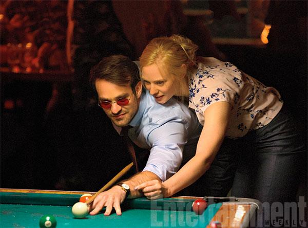 Buena química entre Matt Murdock (Charlie Cox) y Karen Page (Deborah Ann Woll)