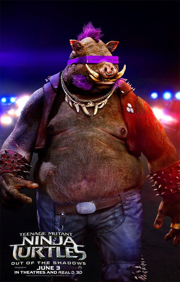 Así será Bebop en Teenage Mutant Ninja Turtles: Out of the Shadows