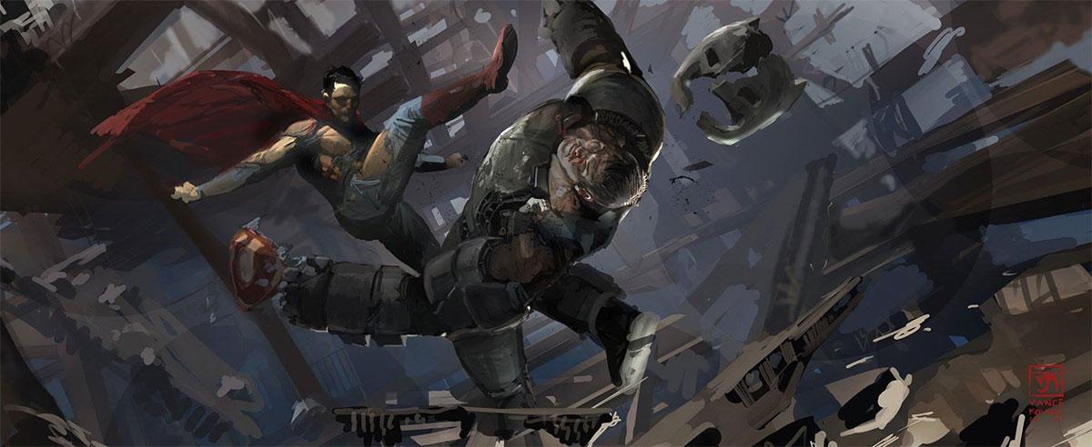 concept art de Batman v Superman: El Amanecer de la Justicia