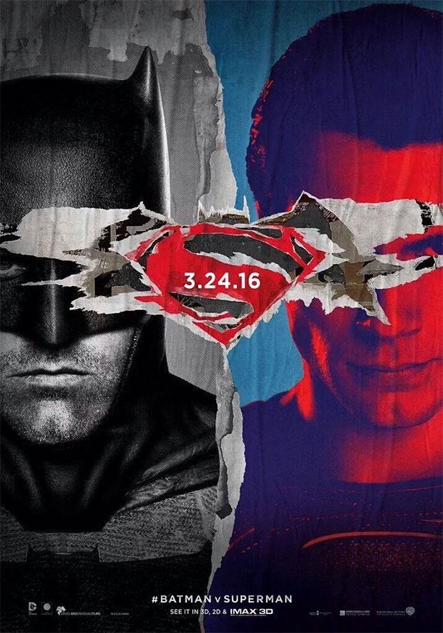 Y otro cartel fotocopia de Batman v Superman: El Amanecer de la Justicia
