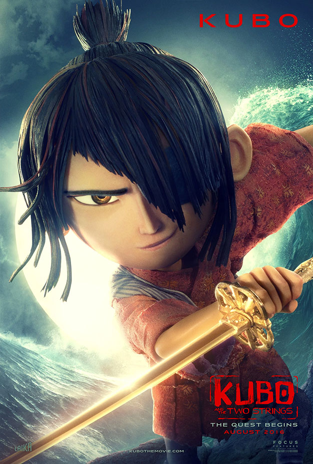 De regalo tres carteles nuevos de Kubo and the Two Strings