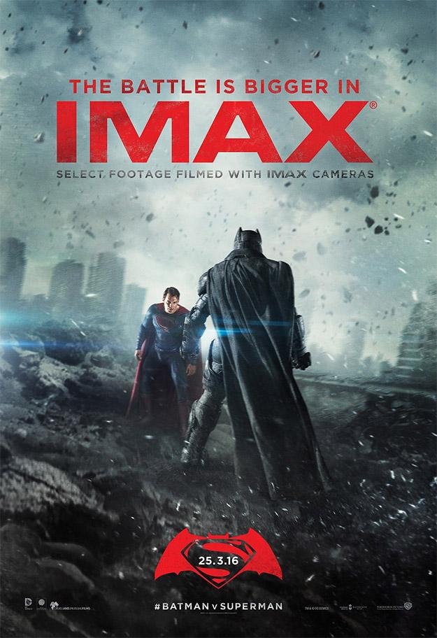 Cartel IMAX para Batman v Superman