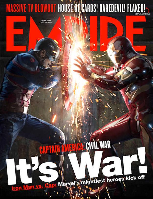 Capitán América: Civil War se gana una poderosa portada en Empire