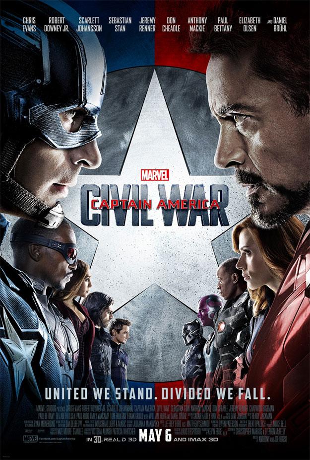 El cartel final de Capitán América: Civil War