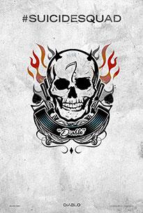 Pintadas Rick Flag, Harley Quinn y Diablo