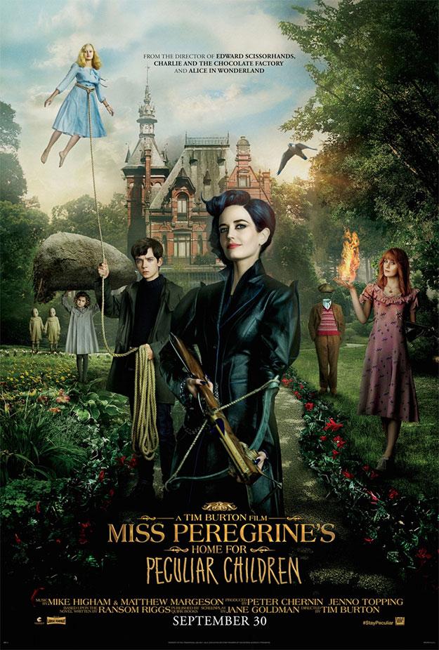Primer cartel de El hogar de Miss Peregrine para niños peculiares