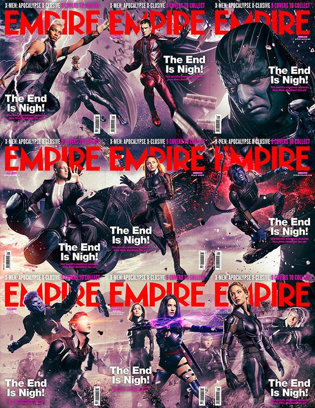 Empire y sus nueve portadas collage para X-Men: Apocalipsis