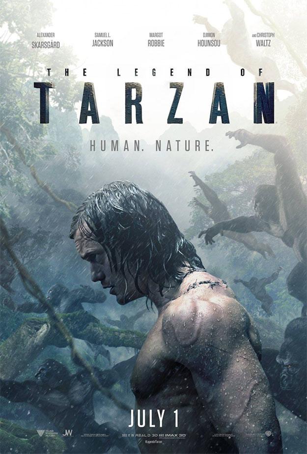Gorilas, pelo mojado y venas en el nuevo cartel de The Legend of Tarzan