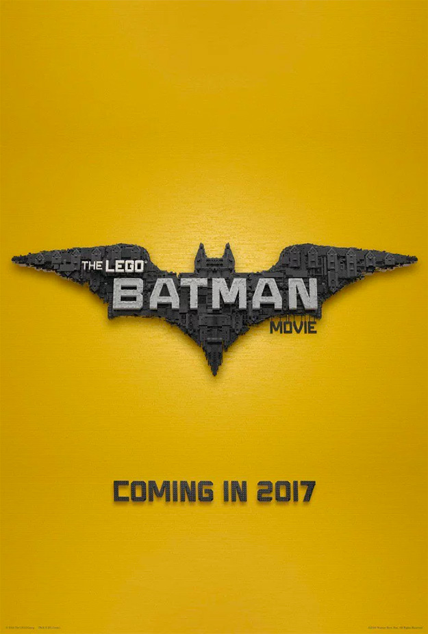 El cartel de The Lego Batman Movie
