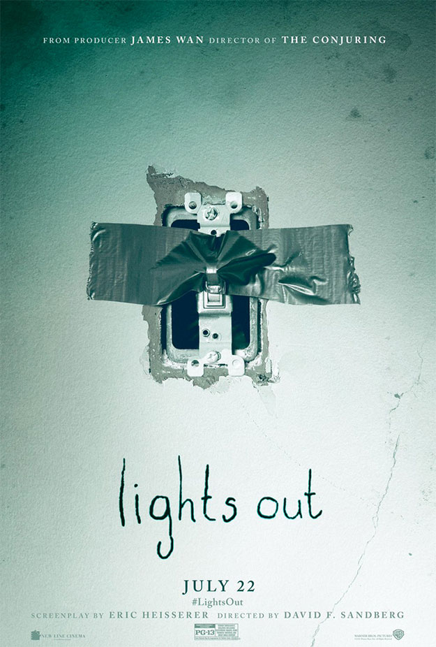Cartel de Lights Out, para morirse del miedo