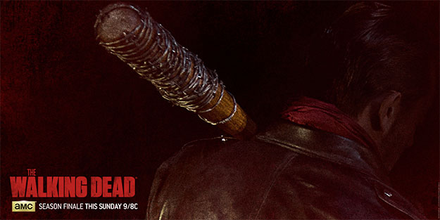 "Negan (Jeffrey Dean Morgan) con Lucille en ""The Walkind Dead"""