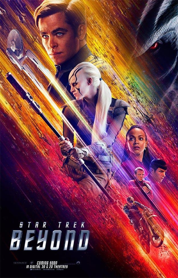 Repleto de color este cartel de Star Trek: más allá
