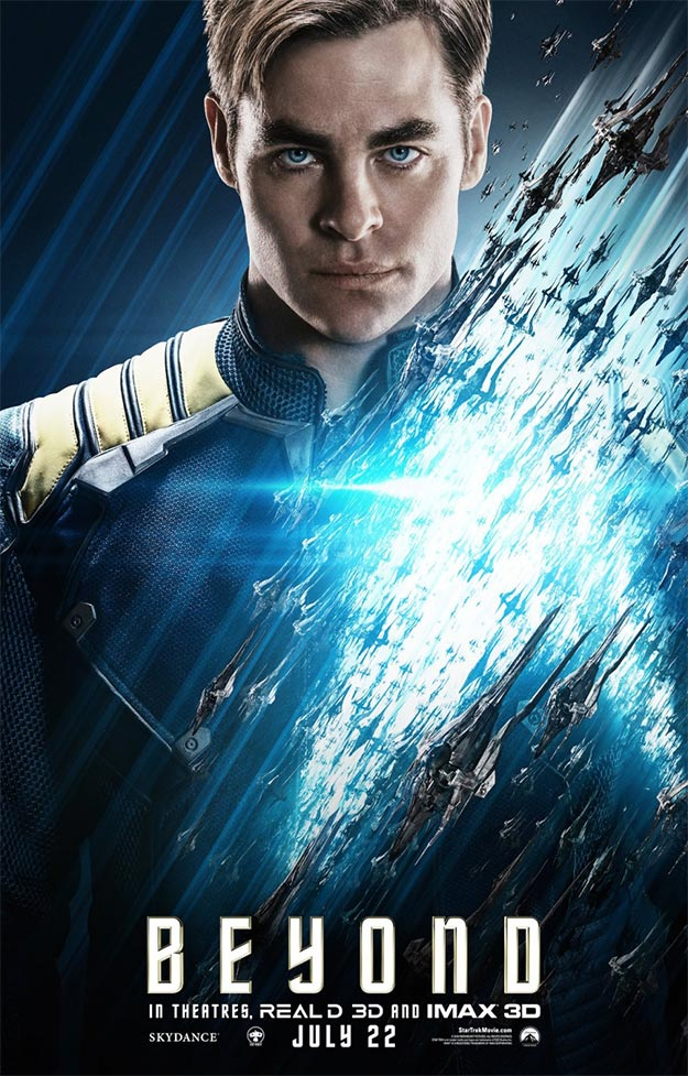 James T. Kirk AKA Chris Pine en Star Trek: más allá