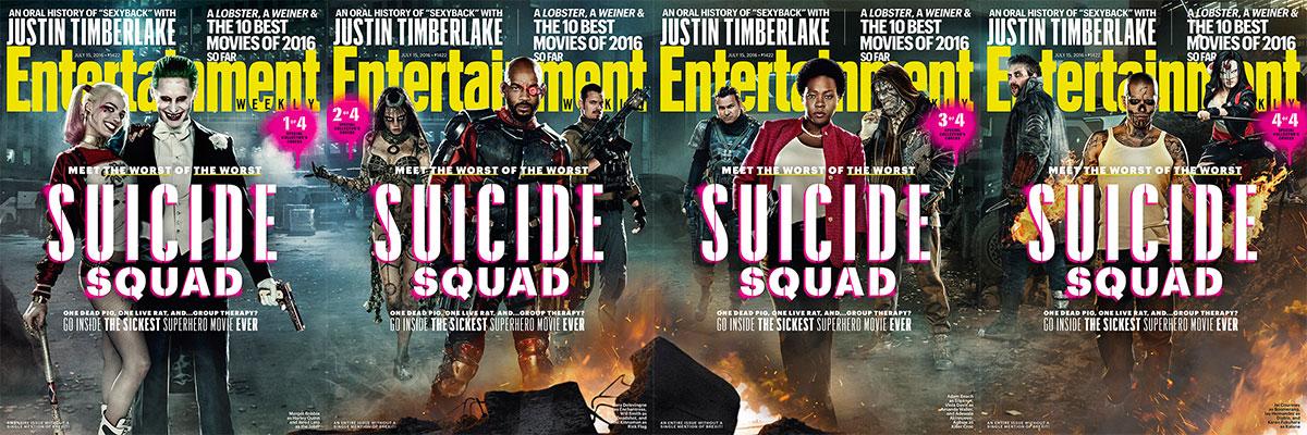 Todas las portadas de EW dedicadas a Suicide Squad