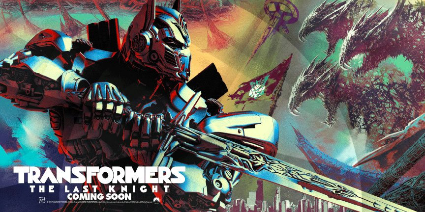 Primer cartel, bastante chulo, de Transformers: The Last Knight