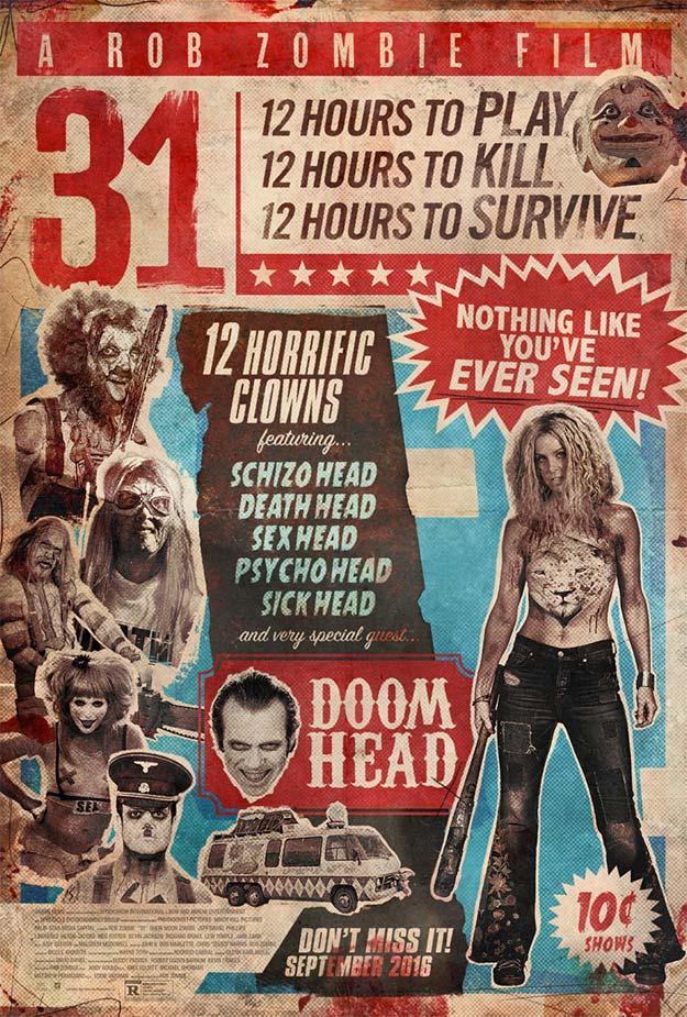 Cartel macarra de 31 de Rob Zombie