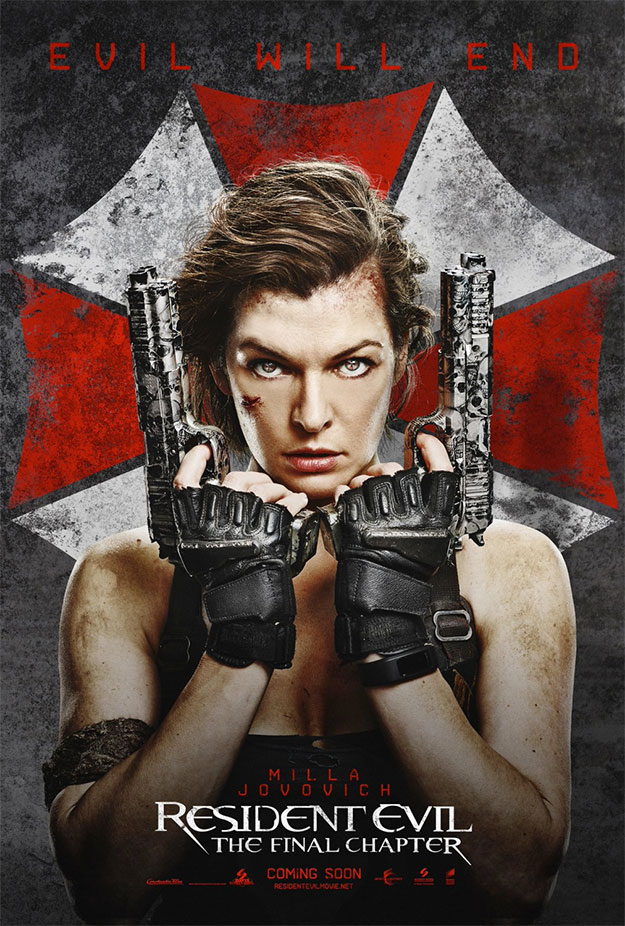Y otro cartel más de Resident Evil: The Final Chapter