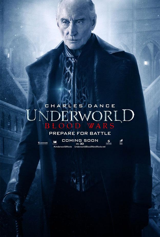 Charles Dance, Tobias Menzies y Theo James, puede que no inmortales en Underworld: Blood Wars