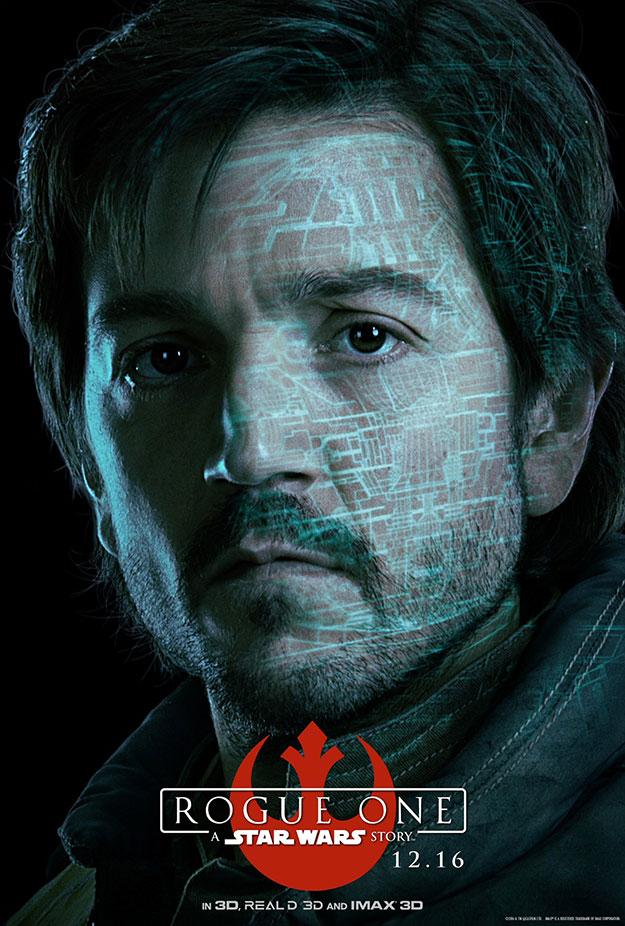 Cassian Andor y K-2SO en Rogue One: Una Historia de Star Wars