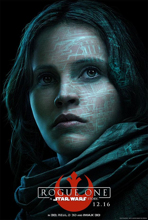 Jyn Erso en Rogue One: Una Historia de Star Wars