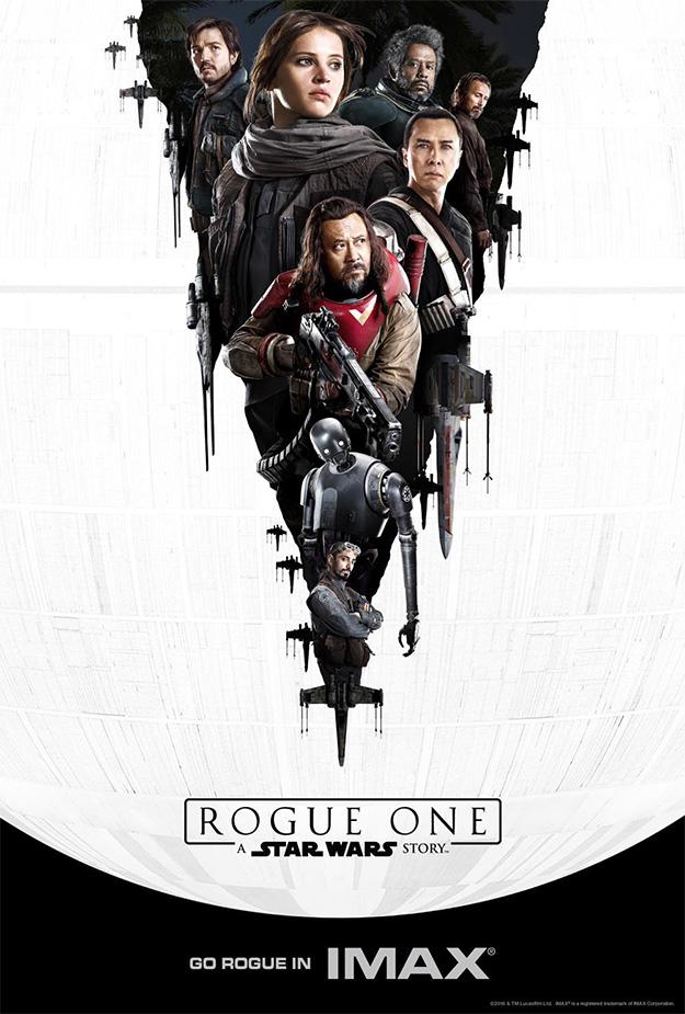Atención a este elaborado cartel IMAX para Rogue One: Una Historia de Star Wars