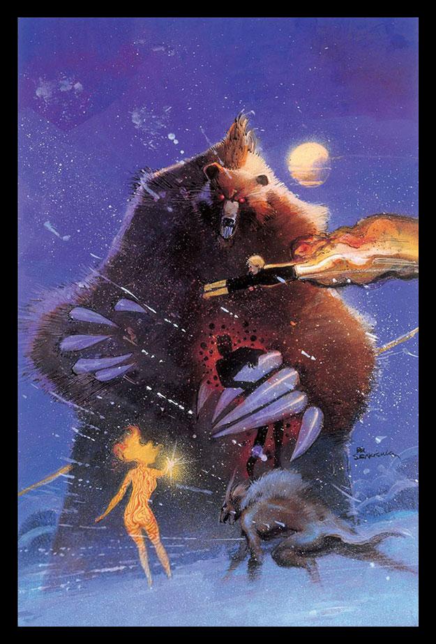 """Esto no es concept art de New Mutants, es la portada del cómic """"New Mutants/X-Force: Demon Bear"""""""