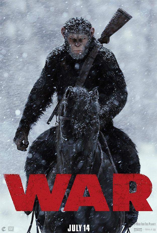 Primer y único cartel de La guerra del Planeta de los Simios
