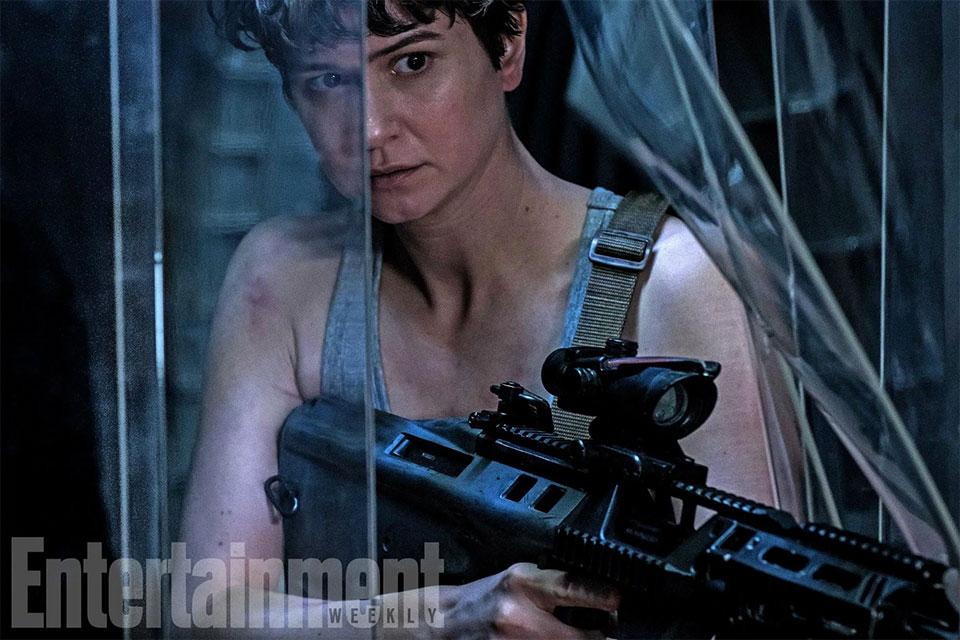 Katherine Waterson a la Ripley en Alien: Covenant