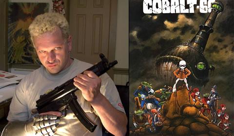 Mark Bodé (este está pirado) y su héroe Cobalt 60