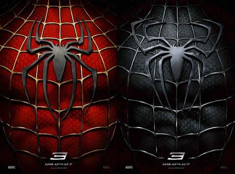 El póster juguetón de Spider Man 3