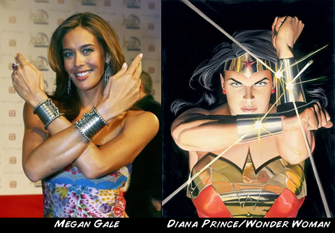 Megan Gale como Wonder Woman