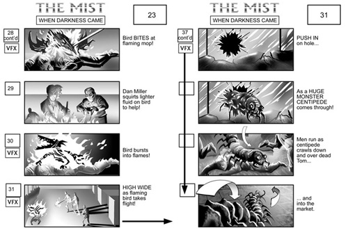 The Mist storyboard 1