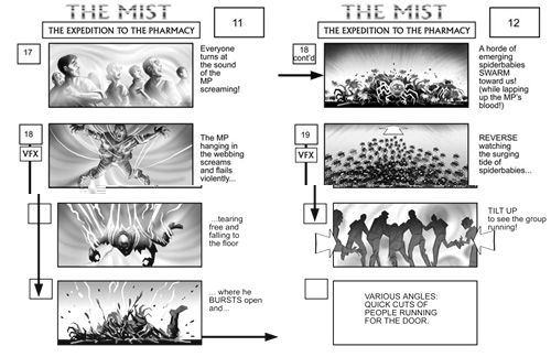 The Mist storyboard 3