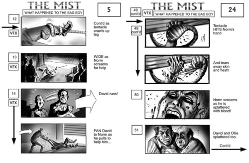 The Mist storyboard 2
