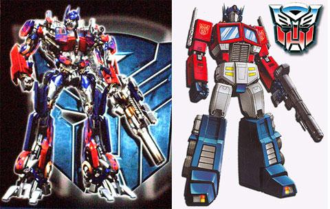 Optimus Prime (comparativa por M)