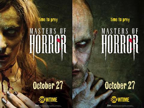 Carteles de presentación de la segunda temporada de Masters of Horror