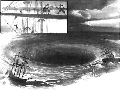 Viejas leyendas del mar: un remolino gigante