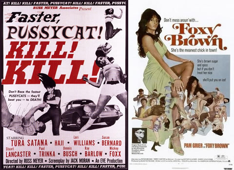 """Faster Pussycat Kill, Kill"" y ""Foxy Brown"", ejemplos de la sexploitation y la blaxploitation"
