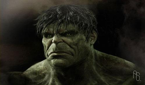El nuevo Hulk dibujado por Aaron Sims