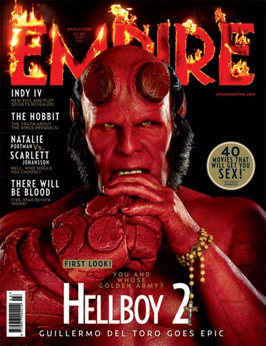 Portada de Hellboy II: The Golden Army para Empire Magazine