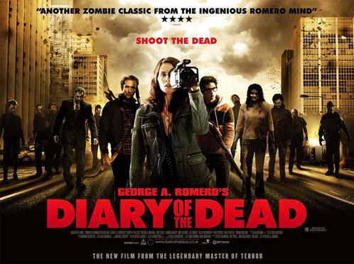 Cartel británico de Diary of the Dead