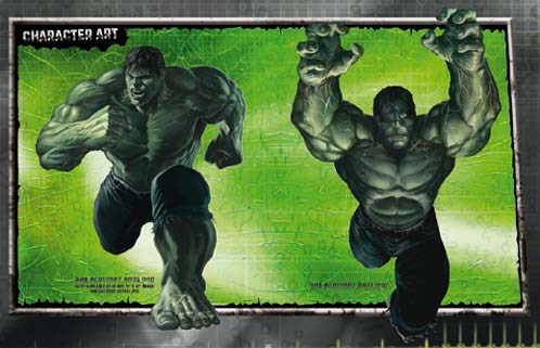 Diseño de personajes de The Incredible Hulk