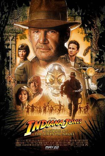 Póster final de Indiana Jones y el Reino de la Calavera de Cristal