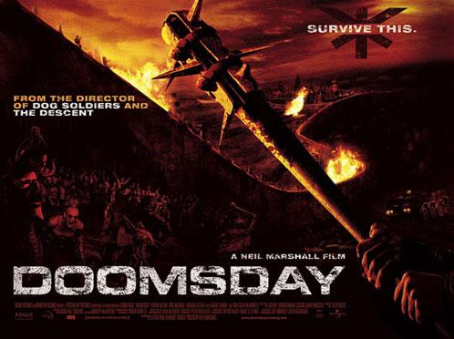 Cartel británico para Doomsday de Neil Marshall