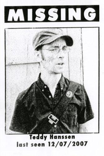 Teddy Hanssen, desaparecido desde el 7 de diciembre del 2007